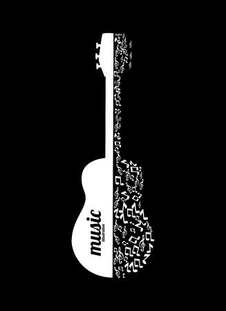 Music design over black background,vector illustration Vector