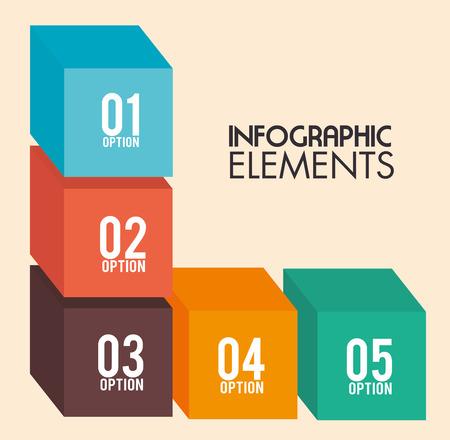 backgroud: Infographic design over beige backgroud, vector illustration
