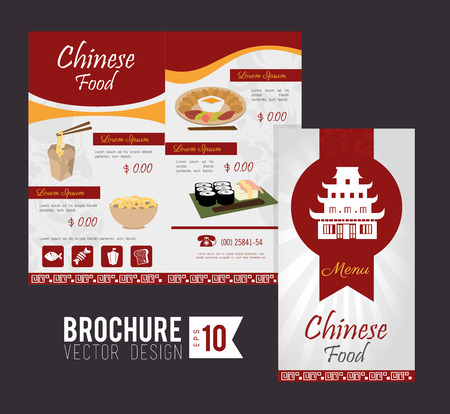 Brochure design over gray  background, vector illustration Vector