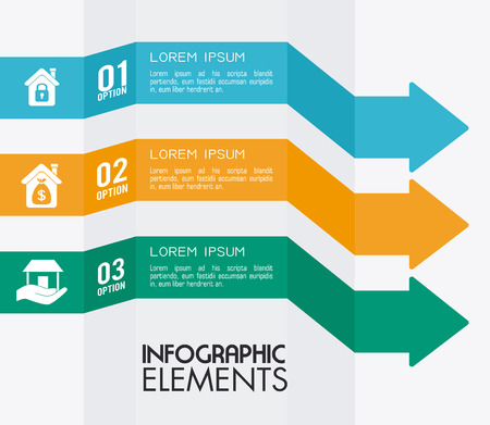 Infographic design over white backgroud, vector illustration Vector