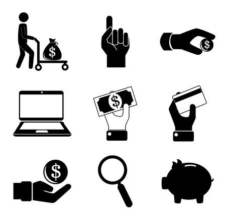 Money design over white background, vector illustration Vector