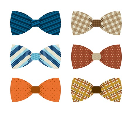 bow tie: Clothes design over white background, vector illustration Illustration