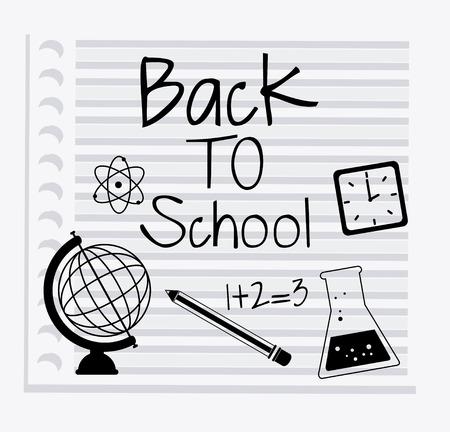 Back to school design over white background, vector illustration