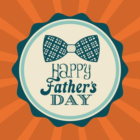Fathers day design over orange background, vector illustration Vector
