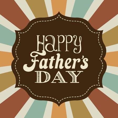 father's: Fathers day design over stripes background, vector illustration