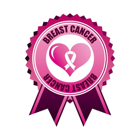 Breast cancer design over white background, vector illustration Vector
