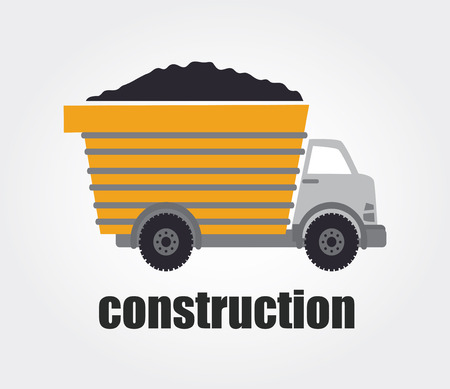 recondition: Construction design over gray background, vector illustration