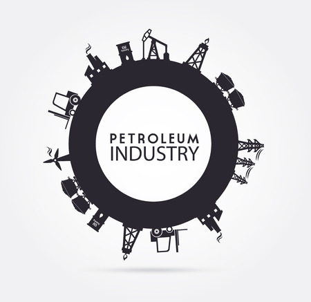 energy work: Industry design over white background, vector illustration Illustration