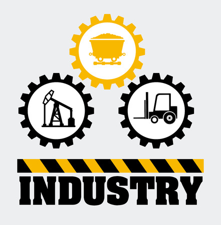 ming: Industry design over gray background, vector illustration