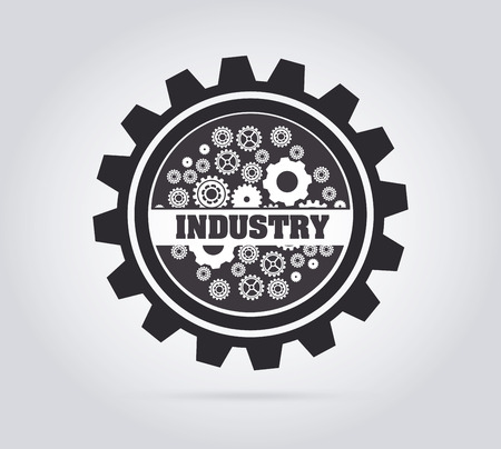 Industry design over gray background, vector illustration