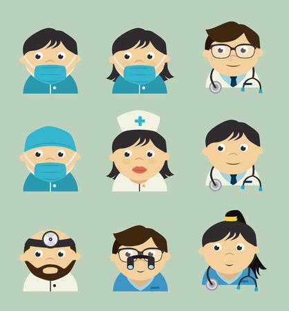 hospital cartoon: Medical design over blue background, vector illustration