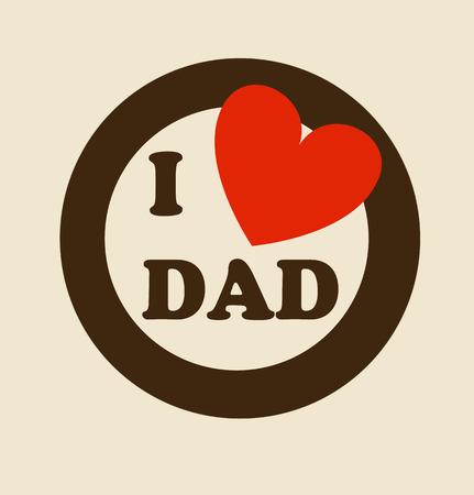 Fathers day design over beige background, vector illustration Vector