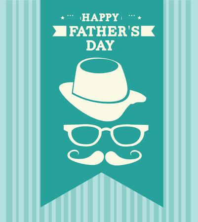 glases: Fathers day design over blue background, vector illustration