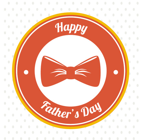 Fathers day design over white background, vector illustration Vector