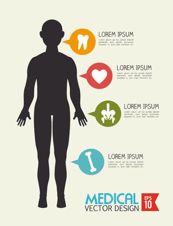 Medical design over beige background, vector illustration Stock Vector - 27380330