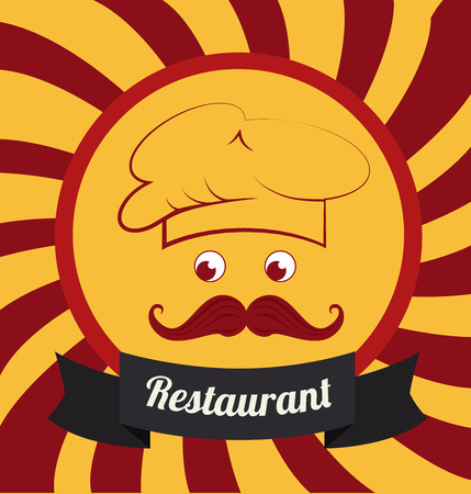 illsutration: Restaurant design over yellow background, vector illsutration Illustration