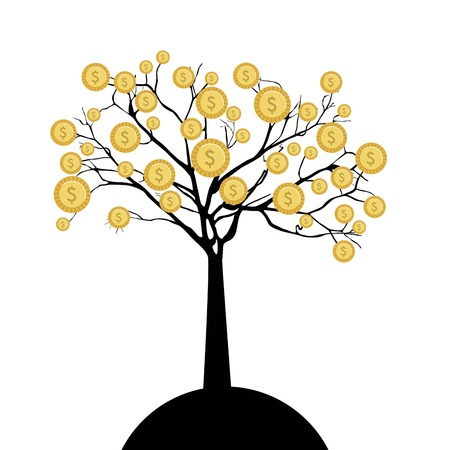 commercial tree care: Business design over white background, vector illustration