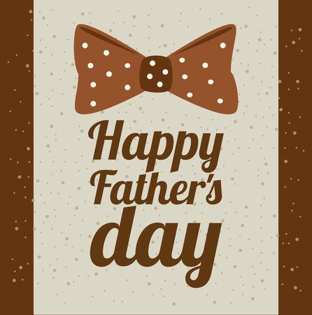 Fathers day design over brown background, vector illustratrion Illustration