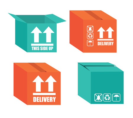 Delivery design over gray background, vector illustration Stock Vector - 27423295