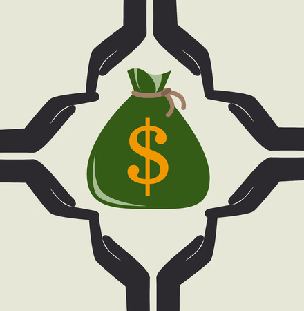 Money design over beige background, vector illustration Vector