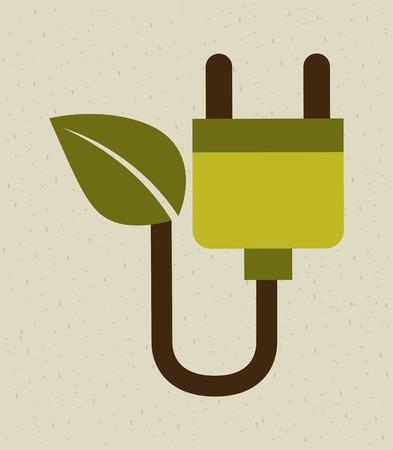 enviromental: Ecology design over beige background, vector illustration