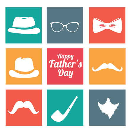 Fathers day design over white background, vector illustratrion Vector