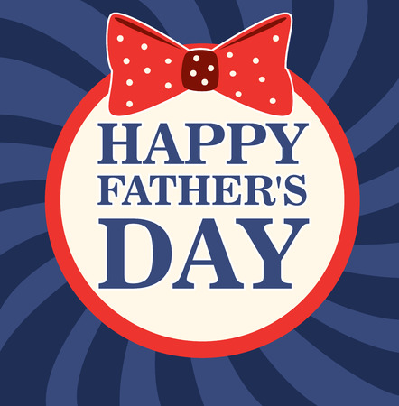 Fathers day design over blue stripes background, vector illustratrion Vector