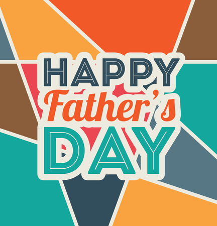 fathers  day: Fathers day design over colorful background, vector illustratrion Illustration