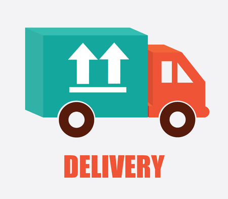 Delivery design over gray background, vector illustration Stock Vector - 27423443