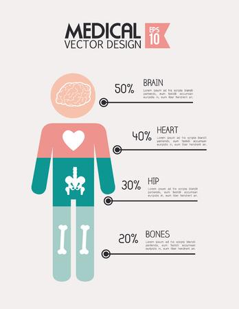 Medical design over beige background, vector illustration Vector