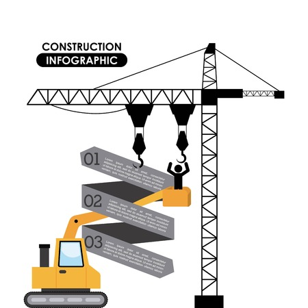 Construction design over white background, vector illustration Vector