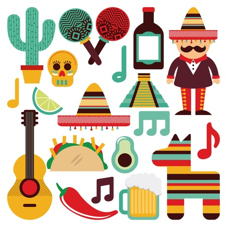 mexico background: Mexico design over white background, vector illustration