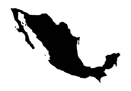 map mexico: Mexico design over white background, vector illustration