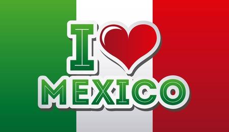 latinoamerica: Mexico design over gray background, vector illustration