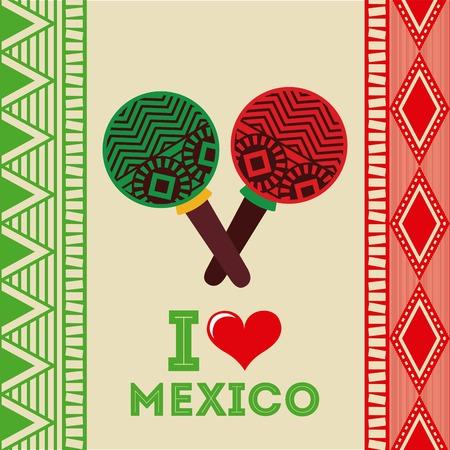 latinoamerica: Mexico design over beige background, vector illustration Illustration