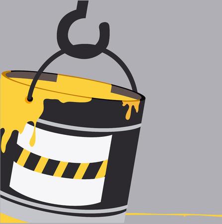 crane bucket: Tools design over gray background, vector illustration Illustration