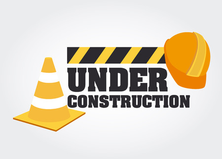 Under construction design over gray background, vector illustration Vector