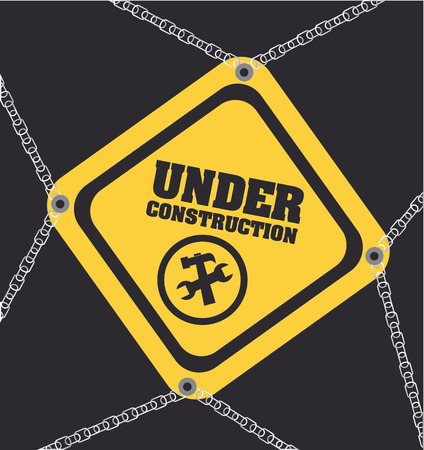 recondition: Under construction design over gray background, vector illustration