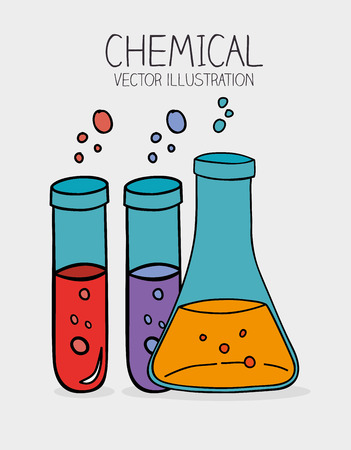 chemically: Chemical design over gray background ,vector illustration Illustration