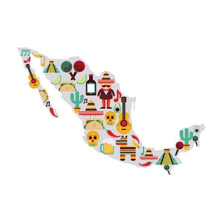 Mexico design over white background, vector illustration Vector