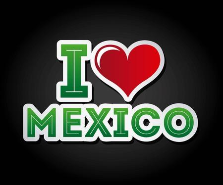 latinoamerica: Mexico design over black background, vector illustration Illustration
