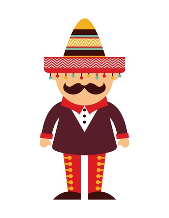 Mexico design over  background, vector illustration Vector