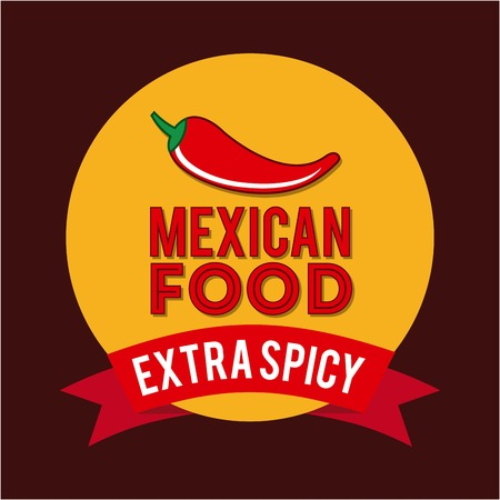 latinoamerica: Mexico design over red background, vector illustration Illustration