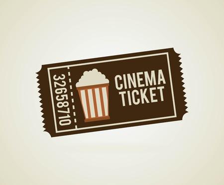 movie ticket: Cinema design over beige background, vector illustration Illustration