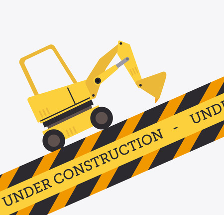 Under construction design over white background, vector illustration Vector