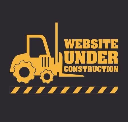 advertising construction: Under construction design over gray background, vector illustration
