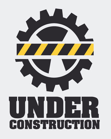 construction machine: Under construction design over gray background, vector illustration