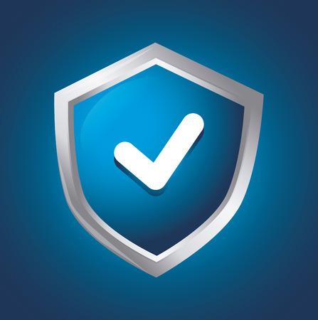 approbation: Emblema su sfondo blu, illustrazione vettoriale