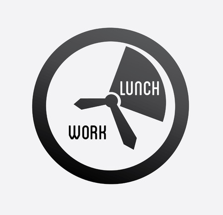 lunch hour: Time design over white background, vector illustration