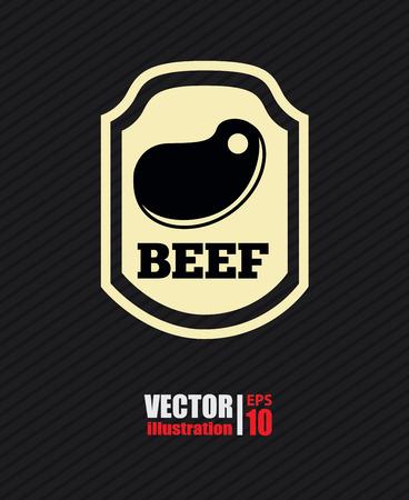 nutritive: Icon desing over black background, vector illustration Illustration